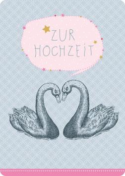 Postkarte – SCHWANENPAAR - Zur Hochzeit-  (KL 14120)