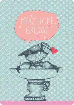 Postkarte – MEISE -Herzliche Grüsse-  (KL 14115)