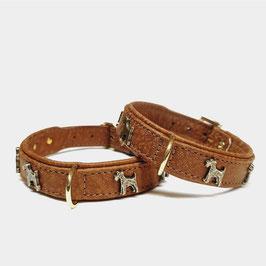 LUXDOX Terrier Halsband Cognac