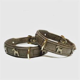 LUXDOX Terrier Halsband Stone