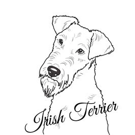 Aufkleber - Irish Terrier SW