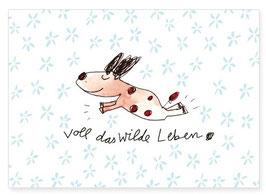 Postkarte - Voll das wilde Leben