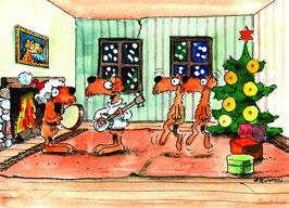 Weihnachtstassen - Tanzende Irish Terrier