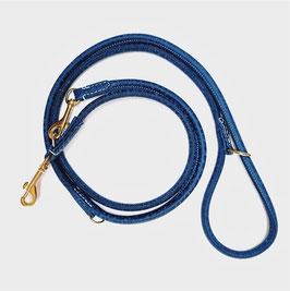 LUXDOX Leine Blue Jeans gold Beschlag