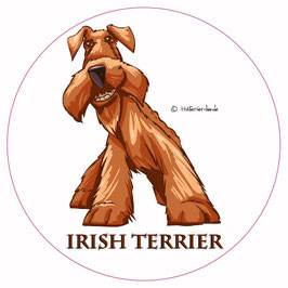 Aufkleber  - Irish Terrier Comic