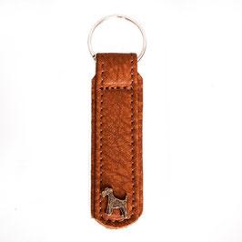 Schlüsselanhänger goldbraun