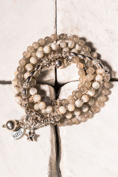 Mondsteinarmband mit Silberanhänger in 925er Echtsilber MO0006