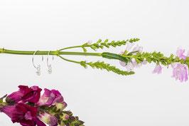 Ohrringe Light016 mit Naturzirkonia und 925 er Echtsilberkreolen