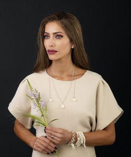 Halskette Light005 mit Quasten und Echtsilber