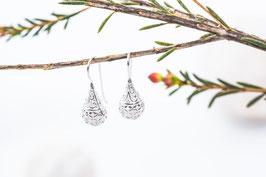 Serendipity Silbertropfen Ohrringe 925 er Echtsilber