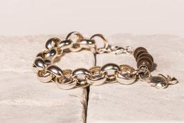 Silberarmband mit Mondstein und Lotusanhänger  SI0035