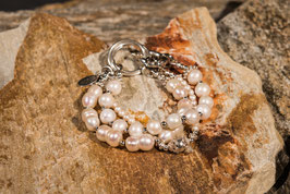 Perlenarmband mit 925 er Echtsilber PE0010