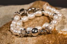 Perlenarmband mit 925 er Echtsilber  PE0012
