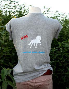 """T-Shirt """"WM hellgrau"""""""