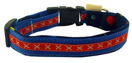 "Hundehalsband blau ""lítill Kross"""