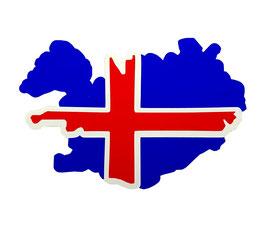 "Aufkleber ""Islandflagge"""