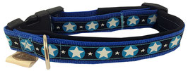 """Hundehalsband blau """"Stjörnu"""""""