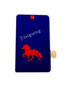 """Handyhülle blau """"#isigoing"""""""