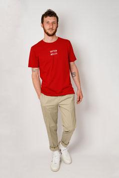 Bio-Baumwoll Shirt mit Siebdruck rot