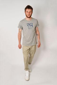 Bio-Baumwoll Shirt mit Siebdruck grau