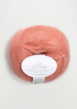Silk Mohair Koralle Meliert