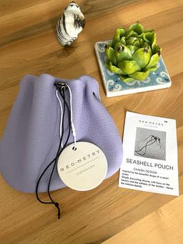 Seashell Pouch  Wisteria color