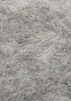 Børstet Alpakka Graumeliert