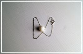 "Perlenarmband ""Silber"""