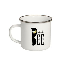 """Emaille Tasse """"let it BEE"""""""