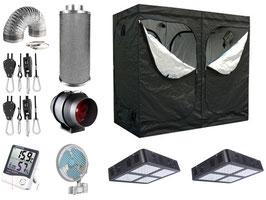 Growbox Komplettset LED 200x100x200cm VSG AKF Growzelt (LED)