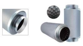 Schalldämpfer 200 mm Anschluss (8 Zoll x 24 Zoll)