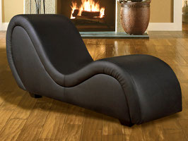 XXL Sex Sofa in hochwertigem Echt-Leder schwarz