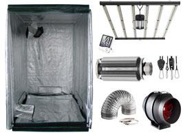 Growbox Komplettset 645 W LED 140x140x200cm VSG AKF Growzelt (Samsung Dioden)