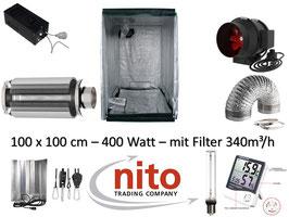 Growbox Komplettset 400 W NDL Eco 100x100x200 cm (400 W mit AKF)