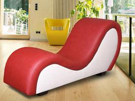 XXL Sex Sofa in bi-colour rot-weiss