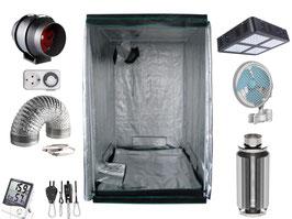 Growbox Komplettset LED 80x80x200cm VSG AKF Growzelt (LED)