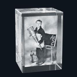 2D Foto im Glasblock