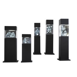 3D Leuchtstele schwarz