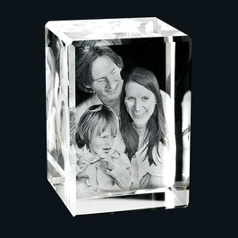 3D Foto im Glasblock