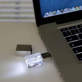USB-Stick mit 3D Glasfoto