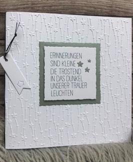 Geprägte Trauerkarte Erinnerungen