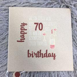 Geburtstagskarte Wein
