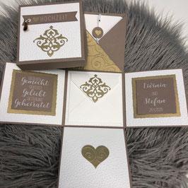 Hochzeitsexplosionsbox Orient gold