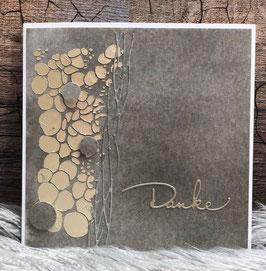 Goldene Steine Dankeskarte