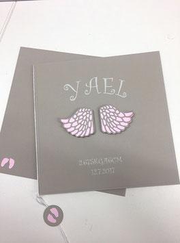Babykarte Engelsflügel