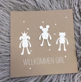 Babykarte Bärenauf Wunsch mit Babyname (D/Rätor)