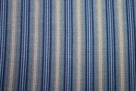 Handgewobener Schürzenstoff blau