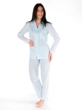 Schlafanzug ganz geöffnet 100% schweizer Baumwolle
