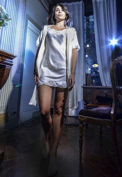 Camicia da notte 100% seta italiana