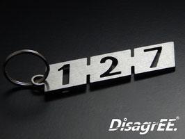 """Schlüsselanhänger """"127"""" - GEBÜRSTET"""